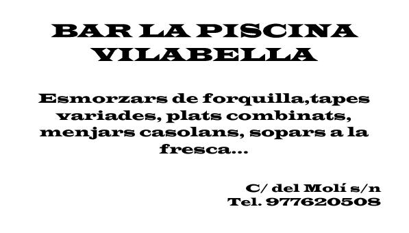 Bar la Piscina de Vilabella